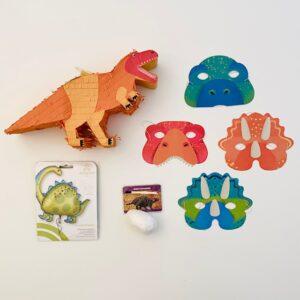 kinderfeestke-thema-dinosaurus-luxepakket-piñata-dino-maskers-dino-folieballon-dinosaurus-ei-met-fossiel
