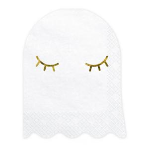 witte-spook-servietten-met-gouden-oogjes-voor-halloween